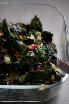 Kale Coconut and Cranberry Salad