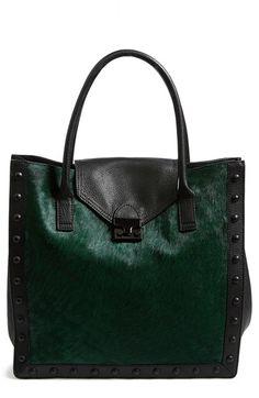 Hello beautiful Tote - emerald fur