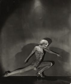 Dancer Jean Barry performing in the play 'Evergreen,' 1931. Photo by George Hoyningen-Huene.