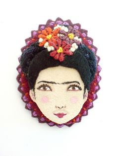 Cameo felt brooch by Yalipaz - Art and accessories, via Flickr