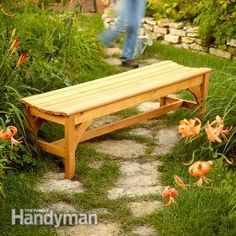 Sit down, relax and enjoy your garden with your own handmade garden bench.  We'll show you how.