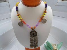 SALE BELLY DANCE Necklace Tribal Kuchi Necklace Middle by Nezihe1, $36.00