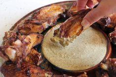 spanish chicken, almonds, chicken wing, almond sauc, paleo