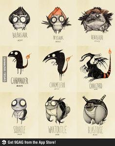 If Pokemon were drawn by Tim Burton :)
