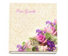 """Memorial Guest Book Ideas: Golden Guest Book Hardcover Gloss FInish 8x8"""""""