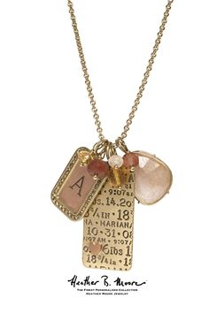 What a great present for a new mom! Give her a Heather B. Moore Personalized Charm Necklace with her new baby's name, birth date, birth weight, initial charm, etc.