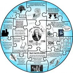 Bach Composer Puzzle - Kids put puzzles together at a station and fill in graphic organizer using facts on puzzle.  Could double-bubble with another composer...