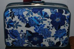 Fabric Decoupage Suitcase made with Mod Podge
