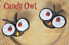 Halloween Treats | Candy Owl Tutorial #Halloween #owl #Candy