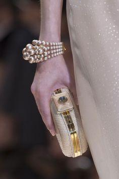 Armani Prive #pearls #champagne
