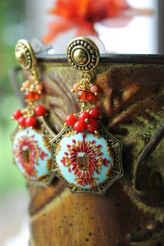 Angelskin Coral Rich red coral rusty red orange by Peelirohini, $73.00