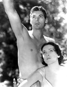 Johnny Weissmuller and Maureen O'Sullivan in Tarzan and His Mate (Cedric Gibbons, 1934)
