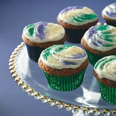 Mardi Gras Cupcakes Recipe from Taste of Home