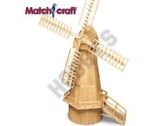 This Matchcraft Dutch Windmill includes everything needed to make this matchstick model kit.  Included are all the pre-cut card formers along with the glue, matchticks and full instructions. These instructions will guide you through each stage of the construction until you finally achieve the finished product.  We would highly recommend this Matchcraft Dutch Windmill.