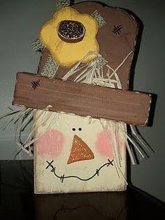 fallhalloween wood, fleas, scarecrow, flea markets, wood blocks