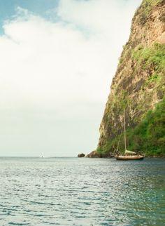 Sailboat at Sugar Beach Hotel in St Lucia