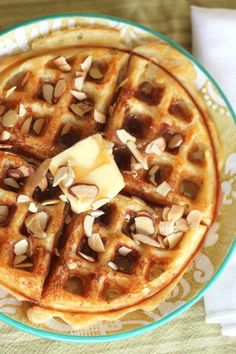 Almond Buttermilk Waffles Recipe on your KitchenAid Waffle Iron! Mmmmmm . . . Delicious! http://www.katom.com/cat/grid/kitchenaid-waffle-bakers.1.html