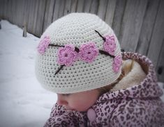 Cherry Blossom Crocheted Hat by Amanda Savisky