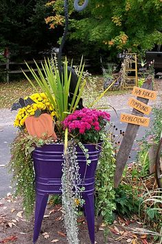 Old wash tub fall garden,  it all begins with the container