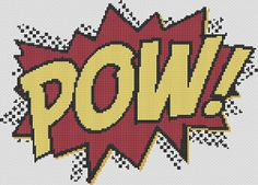 Cross Stitch Pattern  POW  Comic Book Inspired Design  by kanitted, $3.75