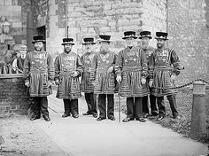 Tower of London Yeomen Warders, c 1885