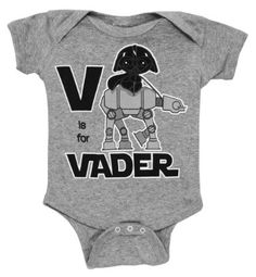 Amazon.com: Star Wars V Is For Darth Vader Mini Fine Movie Baby Creeper Romper Snapsuit: Clothing