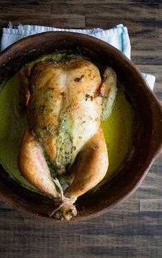 Cilantro Scented Roast Chicken  |  Chez Us