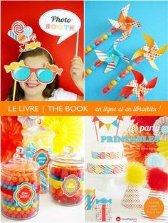 Pour aprendre à créer une sweet table, fête ou candy bar - Ce livre en français vous montre TOUT pour réussir en utilisant des printables - Avec 50+ modèles gratuits à télécharger autant de fois que vous voulez!! #Printables #CandyBar #SweetTables #Party #Anniversaire #Enfant #Créations #DIY #Bonbons #ArtdeLaTable