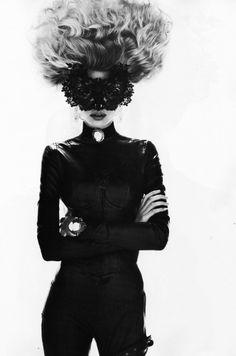 #photography #portrait #fashion #hair #blackandwhite