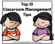 Herding Kats in Kindergarten: Top 10 Classroom Management Tips - use your Fall break to Recharge, Reflect and Reset your Classroom Management!