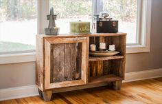 Miniature Pallet Antique Cabinet: