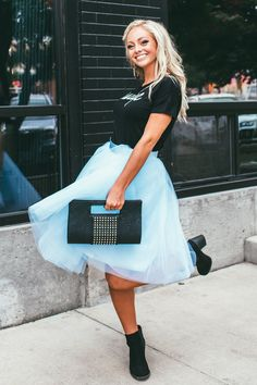 Blue Sky Tulle Skirt