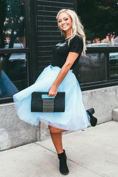 Blue Sky Tulle Skirt