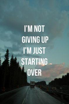 Start over.