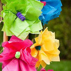 tropical paper flowers  {via Parents.com}