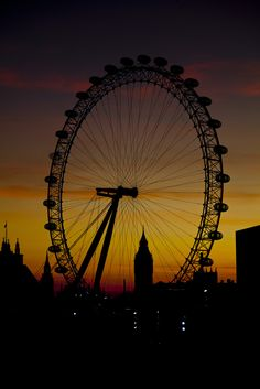 Where's your next vacation? London Eye at sunset | United Kingdom
