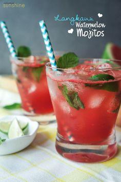 Watermelon Mojitos #cocktail #watermelon