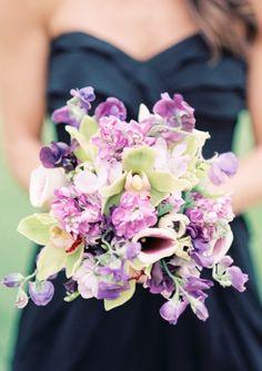 Wedding Blog Purple and Black Wedding by Lisa Dolan