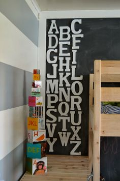 DIY // Wooden Alphabet Wall Art by Meg Padgett from Revamp Homegoods @J O-Ann Fabric and Craft Stores wall art, revamp homegood, alphabet wall, craft stores, babi room, diy, babi shower, crafts, alphabet art
