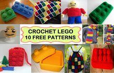 Crochet Lego ~ 10 FREE PatternsLego