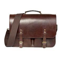 Dart Chocolate Brown Leather Bag (The Merchant Fox)