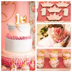 Gorgeous shabby chic princess birthday party via Kara's Party Ideas!