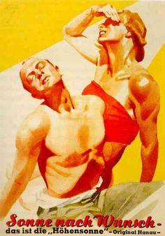 Sonne nach Wunsch - Sunlamps (1925) by Ludwig Hohlwein (1874 - 1949)