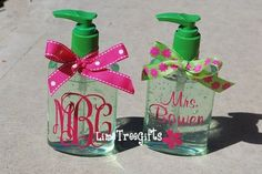 Personalized Hand Sanitizer - Teacher Gift. $8.00, via Etsy.