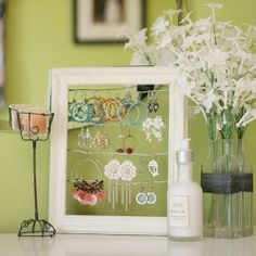Cute and simple earring holder