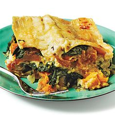 Butternut Squash, Caramelized Onion, and Spinach Lasagna- J Approved