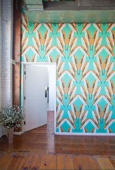 teal wallpaper, pattern.