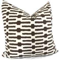 Annie Selke Chocolate Brown Links Decorative Pillow by PopOColor, $45.00