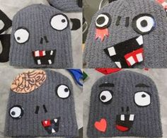 Keep your brains warm with these adorkable zombie beanie hats!