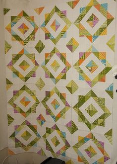 HST Quilt in progress by from the blue chair, via Flickr blue chair, hst quilt, quilt pattern